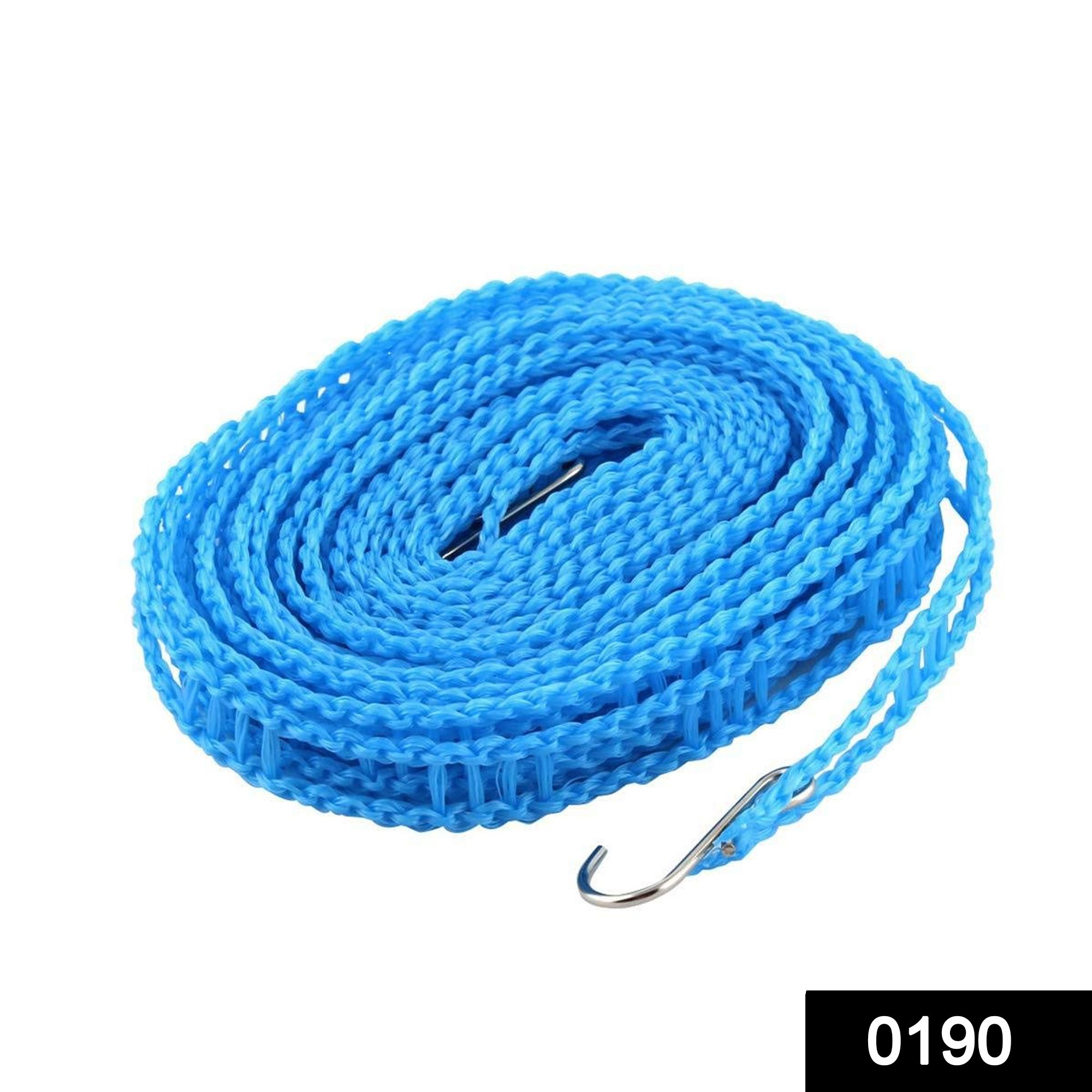 0190 Clothesline Drying Nylon Rope with Hooks -