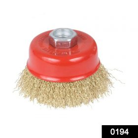 0194 Wire Wheel Cup Brush (Gold) -