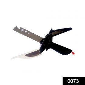 0073 Stainless Steel 4 in 1 Clever Cutter, Black -