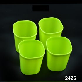 2426 Plastic Drinking Glass Set For Drinking Milk Water Juice (Pack of 4) -
