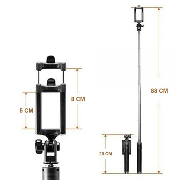 1395 Selfie Sticks with Aux Wire for All Smart Phones -