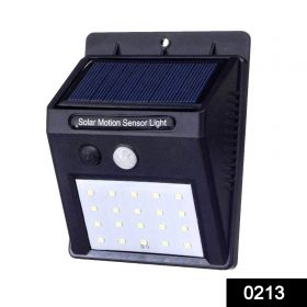 0213 Solar Security LED Night Light for Home Outdoor/Garden Wall (Black) (20-LED Lights) -