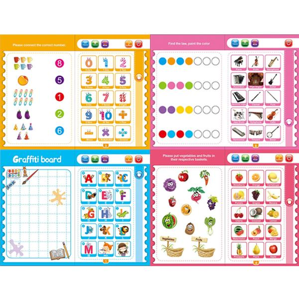 4603 Musical Learning Study Book with Numbers, Letters -