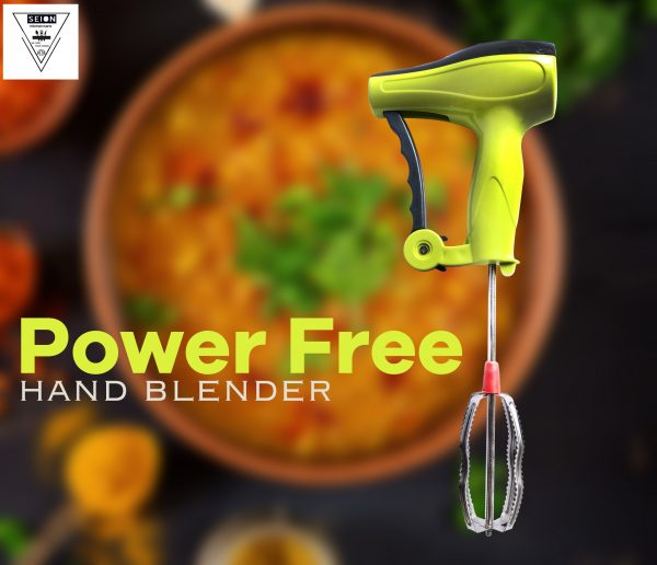 0723 Power-Free Manual Hand Blender With Stainless Steel Blades -