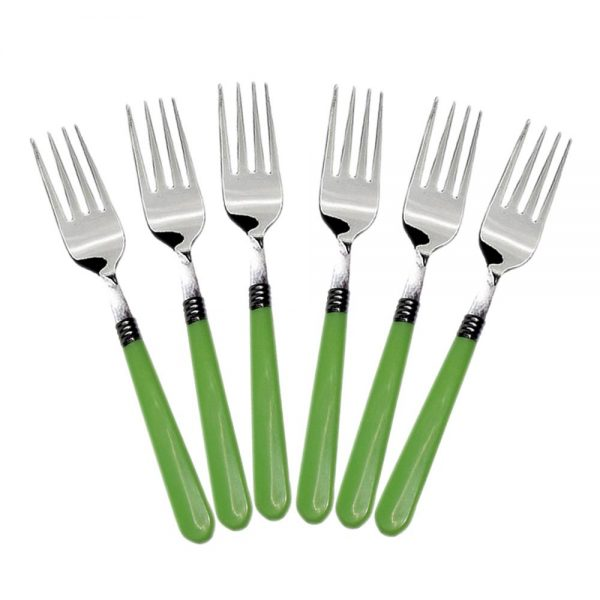 2268 Stainless Steel Forks with Comfortable Grip Dining Fork Set of 6 Pcs -