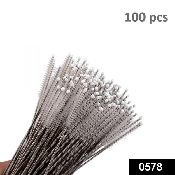 0578 Stainless Steel Straw Cleaning Brush Drinking Pipe, 23mm 1 pcs -