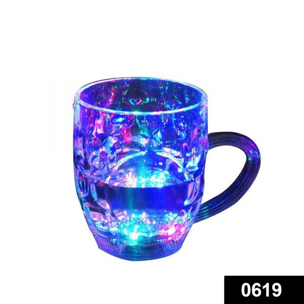 0619 Led Glass Cup (Rainbow Color) -