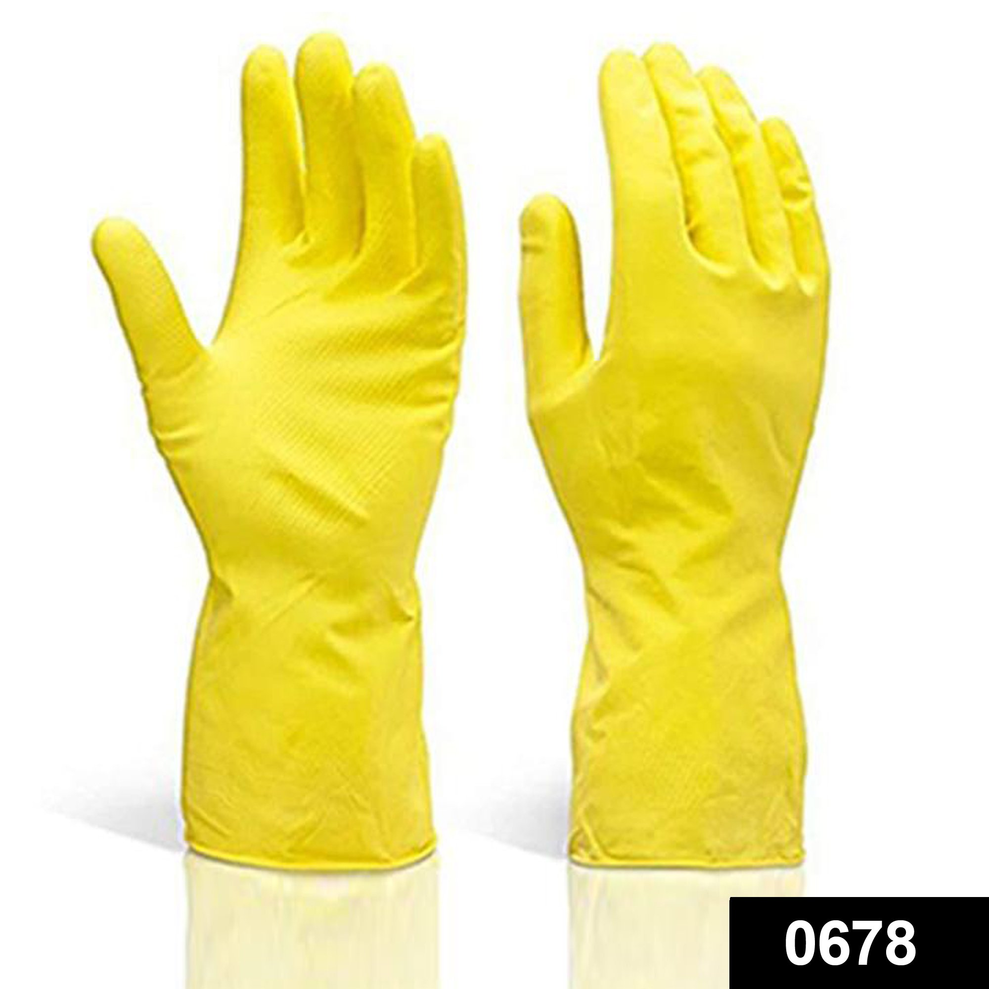 0678 Multipurpose Rubber Reusable Cleaning Gloves -