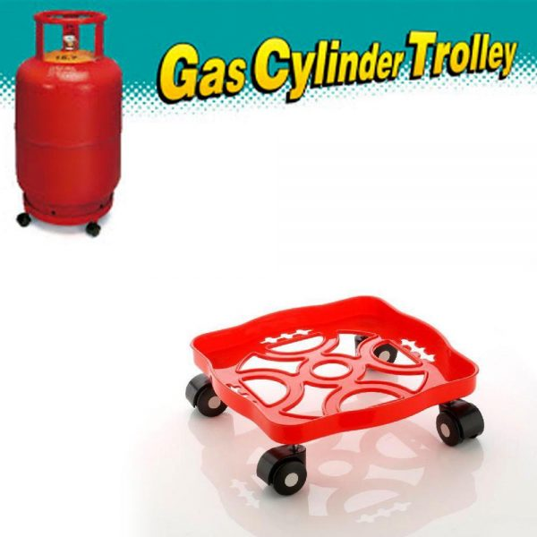0099 Square Plastic Gas Cylinder Trolley -
