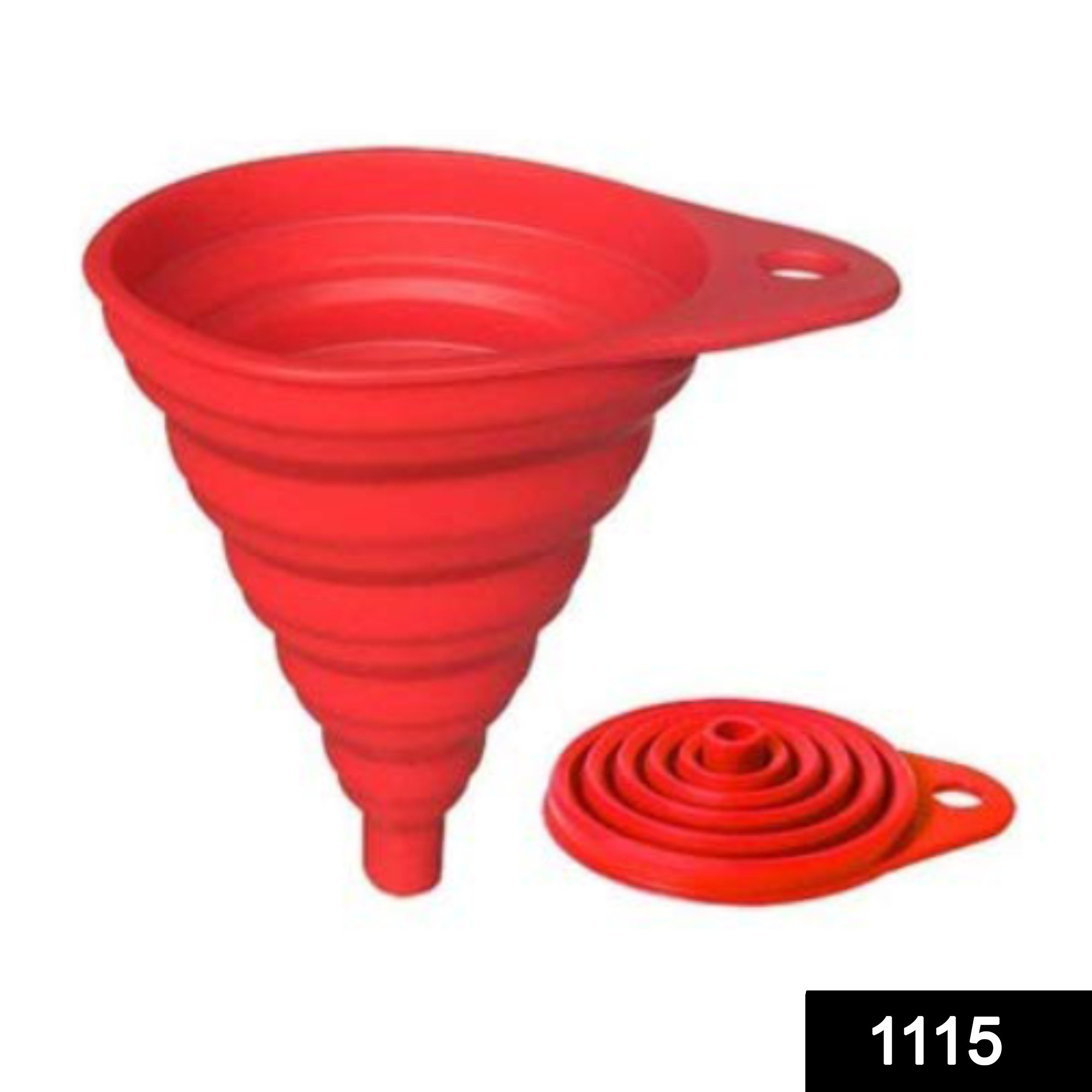 1115 Silicone Collapsible Funnel Kitchen for Flexible Extension -