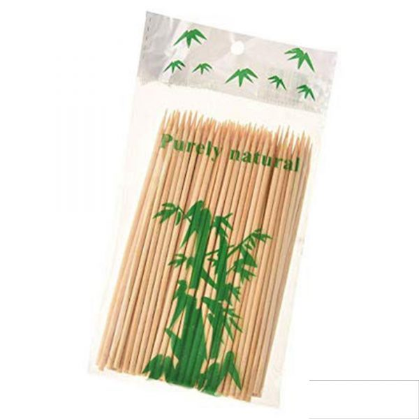 1116 Natural Bamboo Wooden Skewers/BBQ Sticks for Barbeque and Grilling -