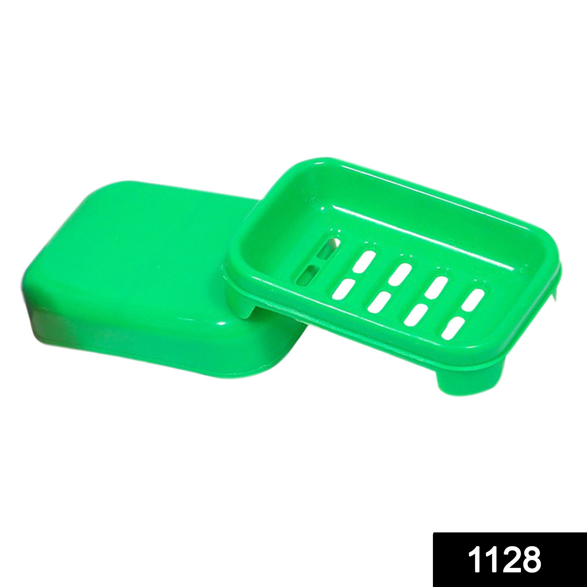 1128 Covered Soap keeping Plastic Case for Bathroom use -