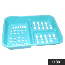 1130 3 in 1 Soap keeping Plastic Case for Bathroom use -