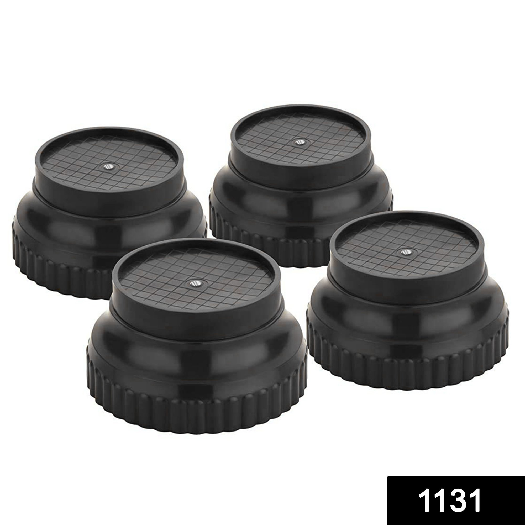 1131 Multi-Purpose 4 Pieces Round Plastic Legs Foot and Stand -