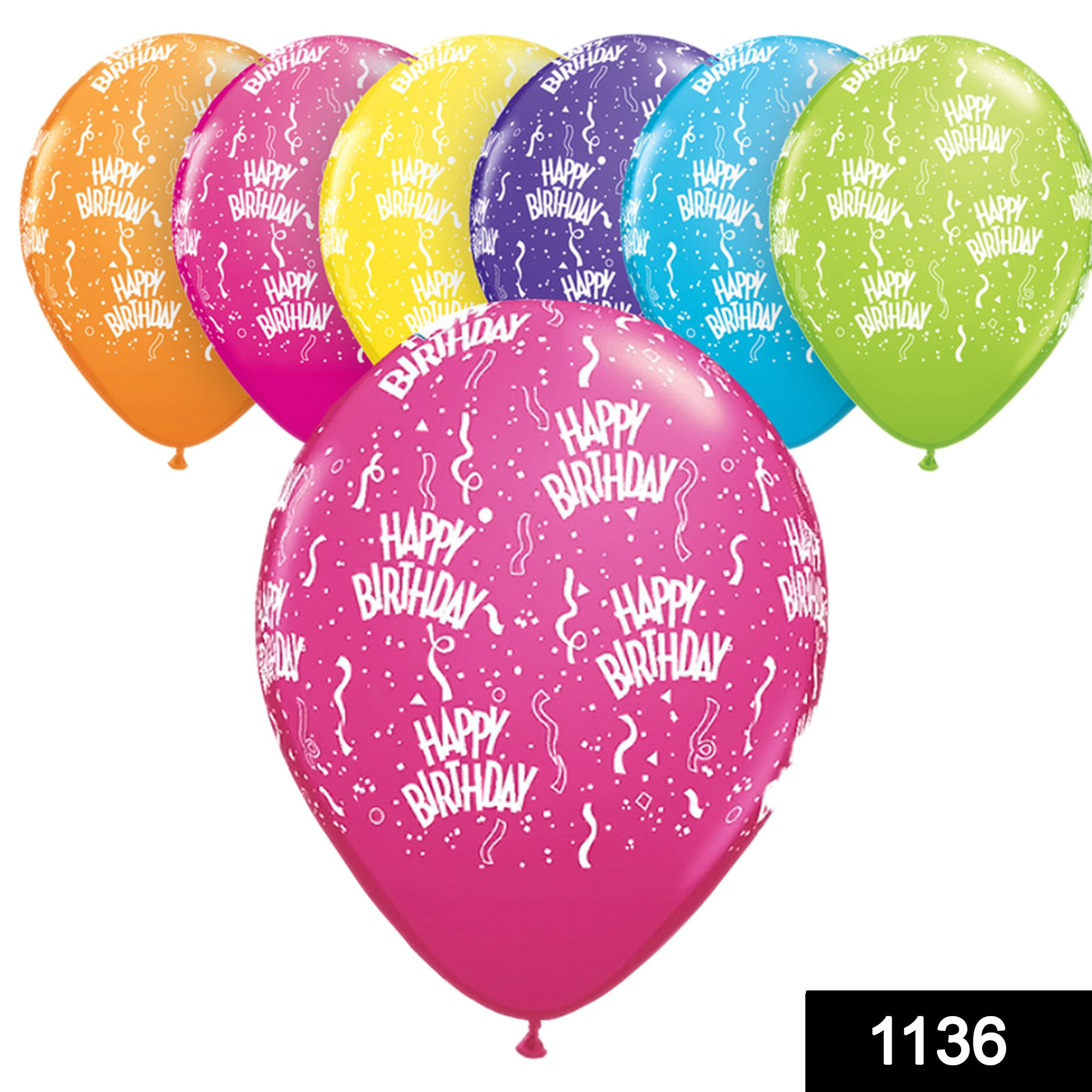 1136 Balloon Pack for Birthday Party Decoration & Occasions (100 pcs) -