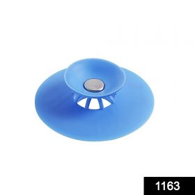 1163 Creative 2-in-1 Silicone Sewer Sink Sealer Cover Drainer (multicolour) -