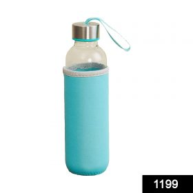 1199 Glass Water Bottle (500 ml) With Cover -