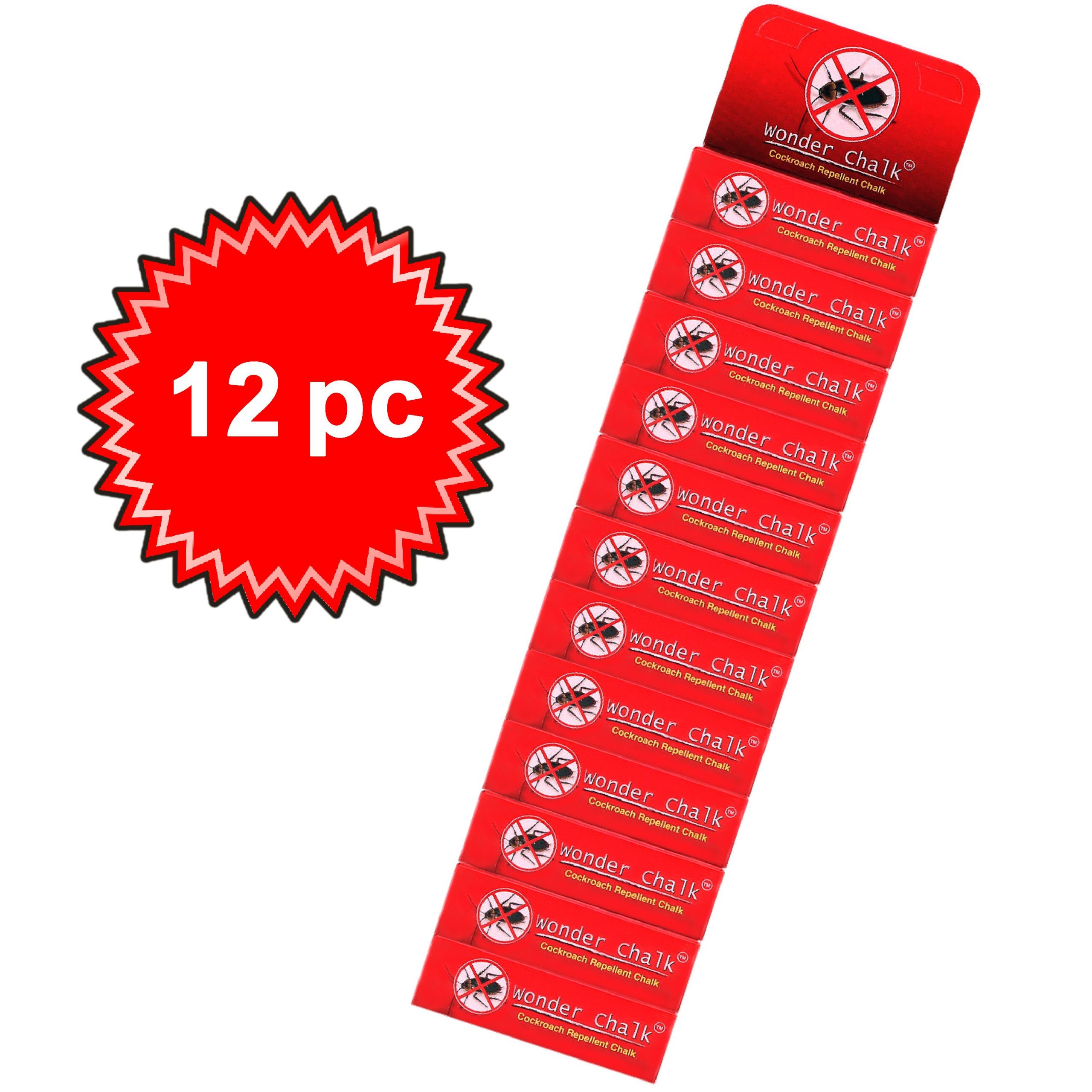1315 Cockroaches Repellent Chalk Keep Cockroach Away (Pack of 12) -