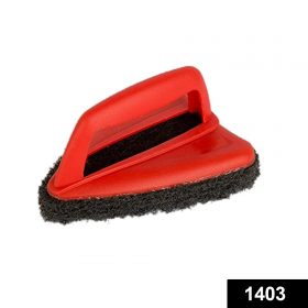 1403 Bathroom Brush with abrasive scrubber for superior tile cleaning -
