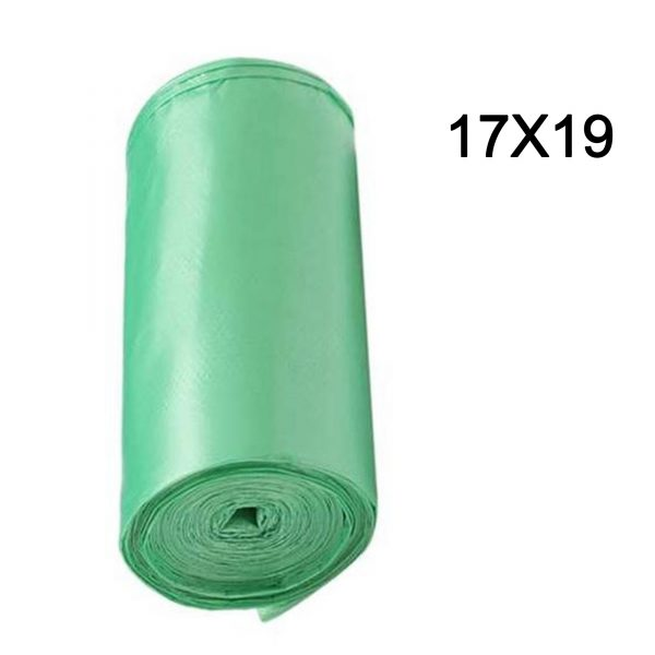 """1581 Green Compostable Corn Starch Garbage Bags (17"""" x 19"""") (Pack of 30) -"""