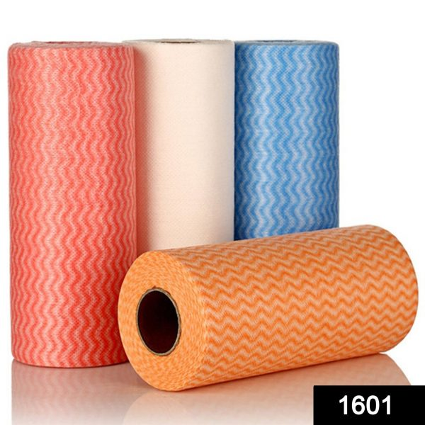 1601 Non Wooven Fabric Disposable Handy Wipe Cleaning Cloth Roll (1Pc) -