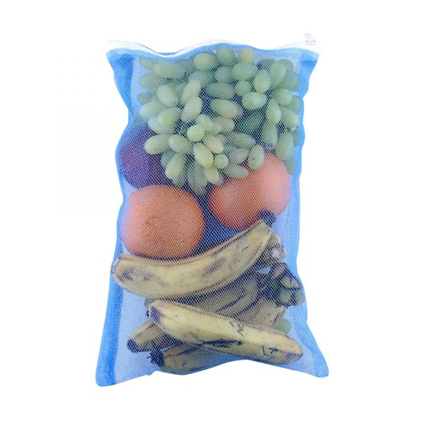 2279 Fridge Bags for Fruits and Vegetables with Zip Net (Multicolour) -