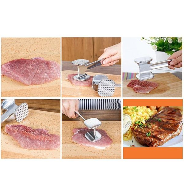 1588 Professional Two Sided Beef/Meat Hammer Tenderizer -