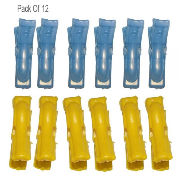 0332 Multipurpose Plastic Clothes Pegs / Hanging Clips / Cloth Drying Clips - 12 pcs (Round) -