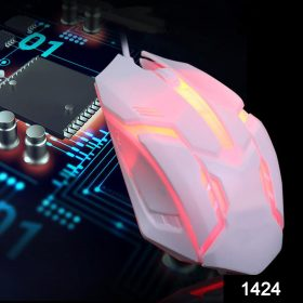 1424 Wired Gaming Mouse for Laptop and Desktop Computer PC For Faster Response Time -