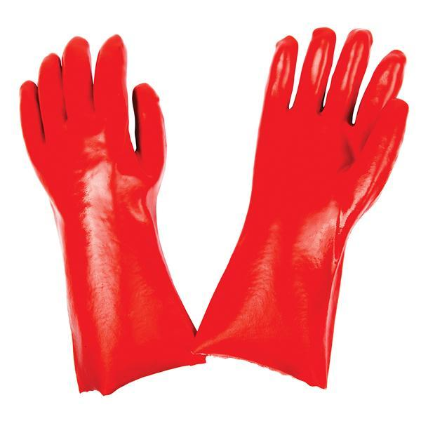 0651 - Cut Glove Reusable Rubber Hand Gloves (Red) - 1 pc -