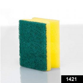 1421 Scrub Sponge 2 in 1 Pad for Kitchen, Sink, Bathroom Cleaning Scrubber -