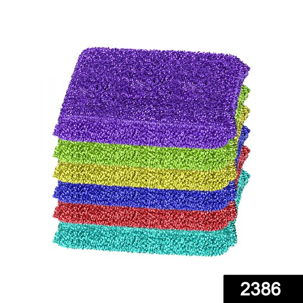 2386 Scratch Proof Kitchen Scrubber Pads for Utensils/Tiles Cleaning (6 pc) -