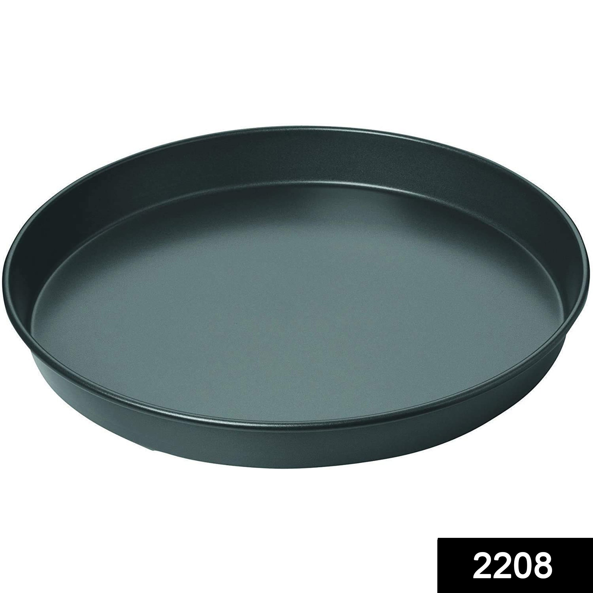 2208 Steel Non-Stick Round Plate Cake Pizza Tray Baking Mould -