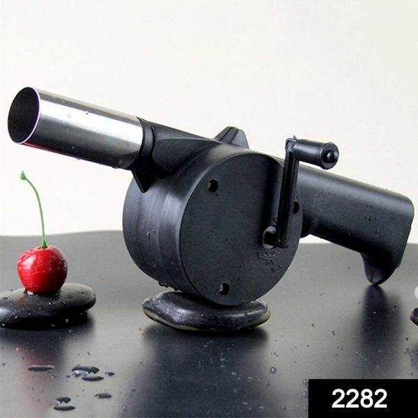 2282 Portable Hand Crank Air Blower Fan for Charcoal Grill BBQ -