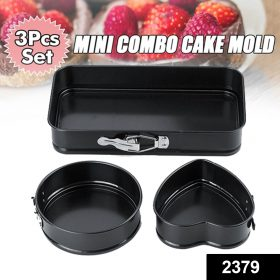 2379 Multiple Shape Metal Moulds for Baking Non-Stick Cake Tins -
