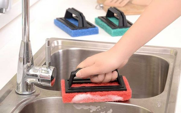 0222 Tile cleaning multipurpose scrubber Brush with handle -