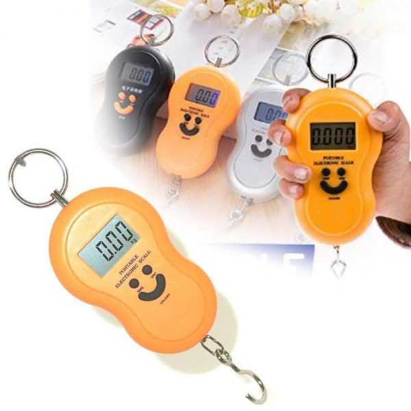 0375 -40Kg 10g Portable Handy Pocket Smile Mini Electronic Digital LCD Weighing Scale -