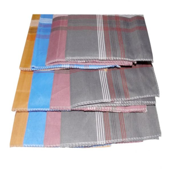 1532 Men's King Size Formal Handkerchiefs for Office Use - Pack of 12 -