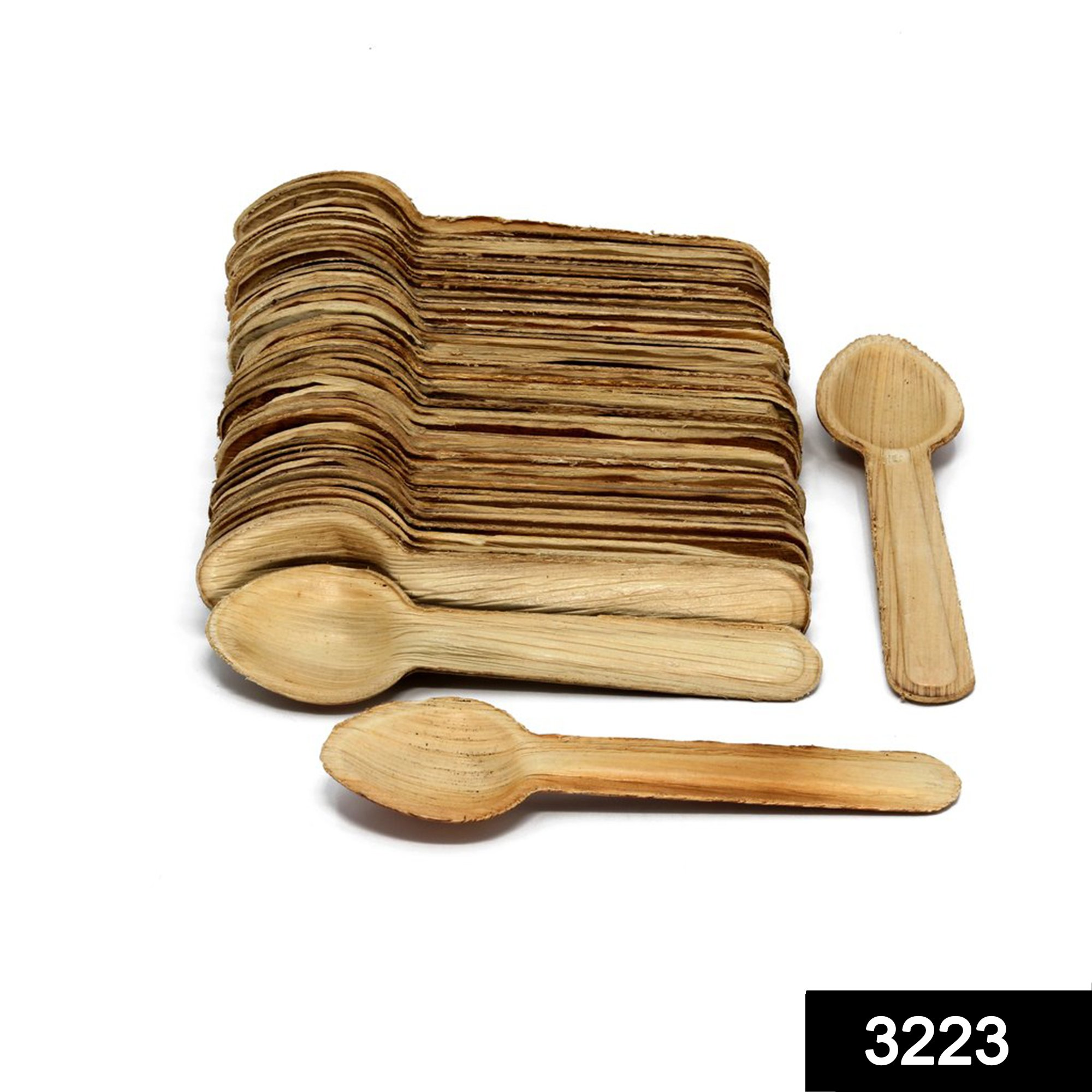 3223 Disposable Eco-friendly Wooden Spoons (Pack of 100) -