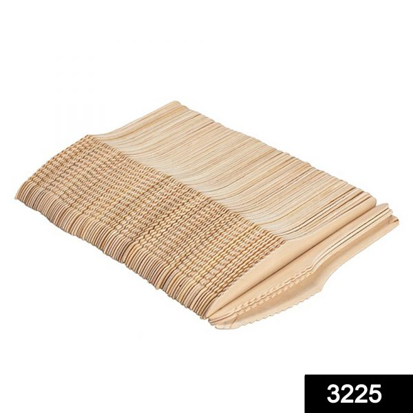 3225 Disposable Eco-friendly Wooden Knifes (Pack of 100) -
