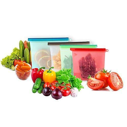 1080 Reusable Silicone Airtight Leakproof Food Storage Bag - 1 ltr -
