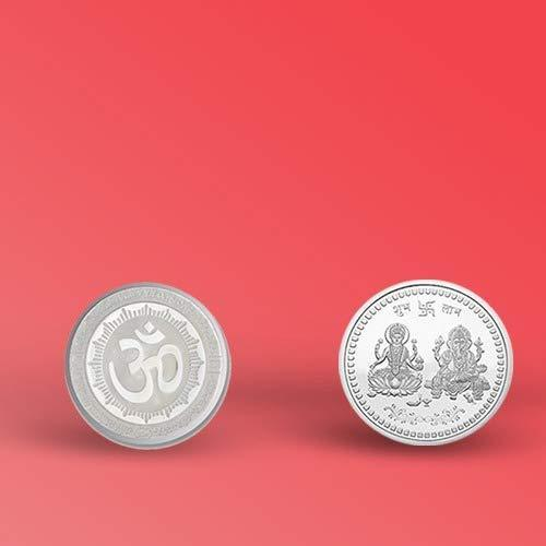 0866 Silver color Coin for Gift & Pooja (Not silver metal) -