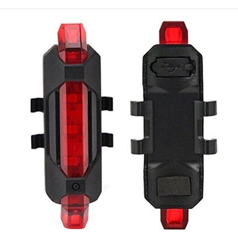 1561 Rechargeable Bicycle Front Waterproof LED Light (Red) -