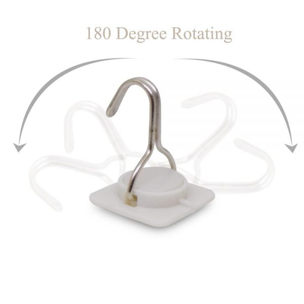 0499 Multipurpose Strong Small Stainless Steel Adhesive Wall Hooks -
