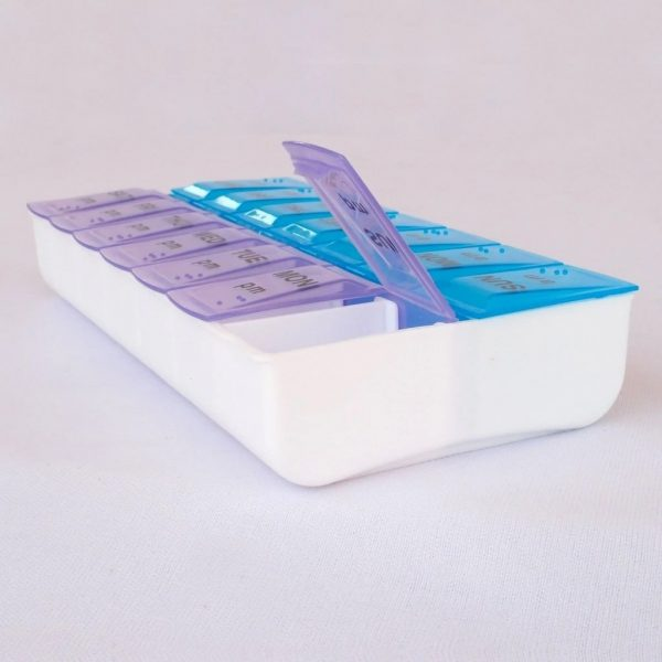 0397 Tablet Pill Organizer Box With Snap Lids -