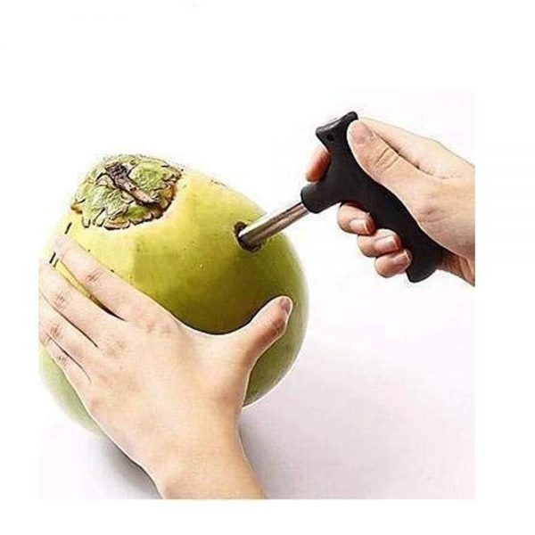 0854 Premium Quality Stainless Steel Coconut Opener Tool/Driller with Comfortable Grip -