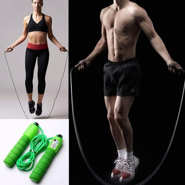 0635 Electronic Counting Skipping Rope (9-feet) -
