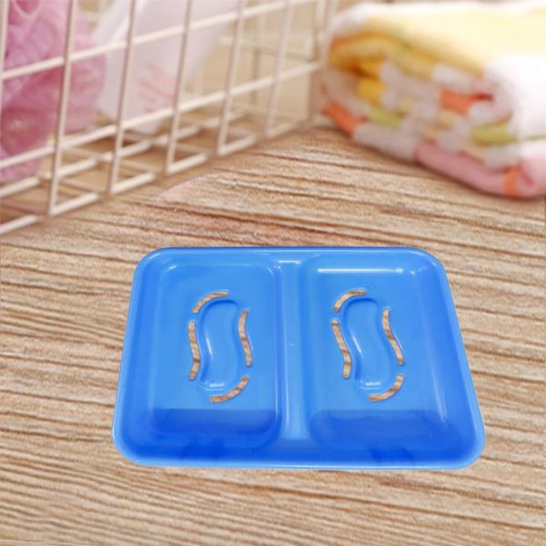 3653 2 in 1 Soap keeping Plastic Holder for Bathroom use -