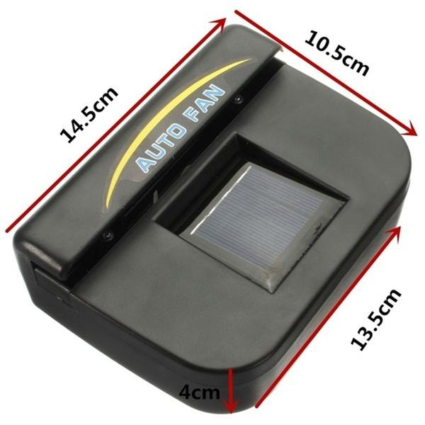1460 Plastic Auto Cool- Solar Powered Ventilation Fan Keeps Your Parked Car Cool -