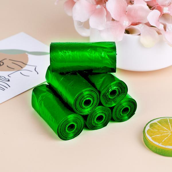 """1586 Bio-degradable Eco Friendly Garbage/Trash Bags Rolls (24"""" x 32"""") (Green) (Pack of 20) -"""